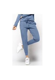 Calça Salvatore Comfy Jogger Moletinho Azul