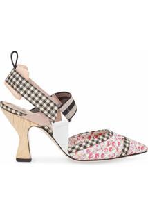 Fendi Sapato Colibri Com Alça No Tornozelo - Rosa