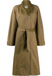 Isabel Marant Étoile Trench Coat Com Cinto - Verde