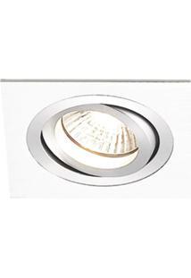 Spot Embutir Caixa Com 3 Unidades Quadrado Alumínio E27 Branco Bella Iluminação Bivolt
