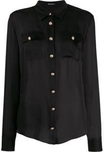 Balmain Button-Down Tailored Blouse - Preto