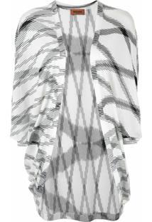 Missoni Blusa Estampada Mangas Longas - Branco
