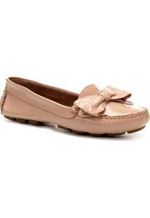 87c79df1b8 ... Mocassim Couro Shoestock Laço Feminino - Feminino-Nude
