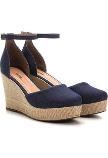 Sandália Griffe Espadrille Feminina - Feminino-Jeans