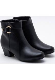 Ankle Boot Modare Salto Grosso Preta 35
