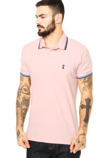 Camisa Polo Sergio K Listras Rosa