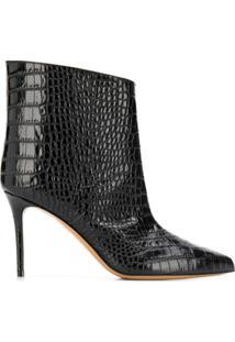 Alexandre Vauthier Croco Ankle Boots - Preto