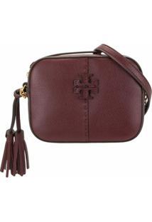 Tory Burch Mcgraw Leather Camera Bag - Vermelho