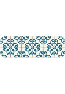 Passadeira Love Decor Wevans Ladrilhos Azul - Kanui