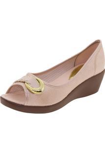 Sapato Feminino Anabela Pérola Azaleia - 628485