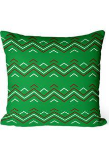 Capa De Almofada Love Decor Avulsa Decorativa Chevron Verde