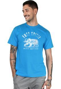 Camiseta Bleed American Free Spirit Turquesa