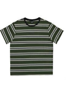 Camiseta Alkary Listras Verde Musgo