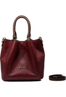 Bolsa Em Couro Recuo Fashion Bag Baú Rosê