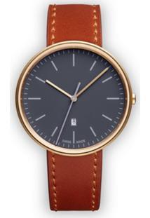 Uniform Wares Relógio 'M38' Com Data - Marrom