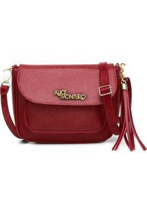Bolsa Alice Monteiro Mini Com Bolso Frontal Externo Vermelho