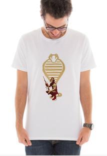 Camiseta Touts Snake Plisskin Branco