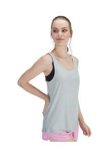 Camiseta Regata Oxer Mar De Plata - Feminina - Cinza Claro