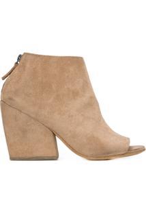 Marsèll Ankle Boot 'Mostro' De Couro - Nude & Neutrals