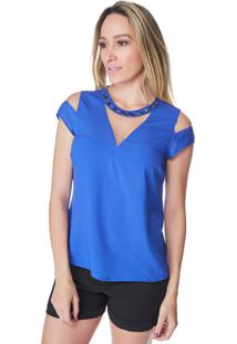 Blusa Celestine Bordados Azul