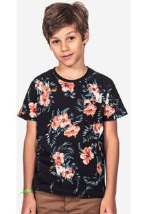 Camiseta Floral Azul Niños 500005