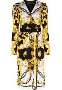 Versace Vestido Envelope Rodeo Queen - Branco