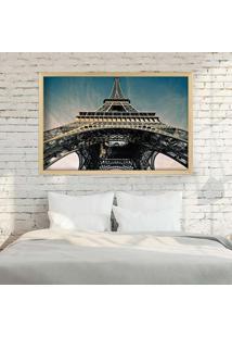 Quadro Love Decor Com Moldura Torre Eiffel Jour Madeira Clara Grande