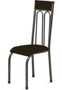 Cadeira Anatômica 0.120 Estofada Craqueado/Tabaco - Marcheli