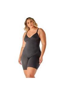 Body Modelador Macaquinho Sem Bojo - Cinta Modeladora Bermuda Plus Size Tamanhos Grandes