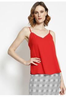 Blusa Com Passamanaria- Vermelha- Milioremiliore