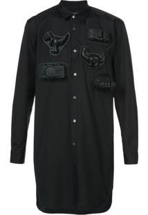 Comme Des Garçons Homme Plus Camisa Mangas Longas - Preto