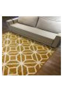 Tapete Quarto Sala Carter Desenho Amarelo 133X190 1 Unidade