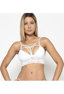 Soutien Strappy Com Renda- Branco- Fruit De La Passifruit De La Passion