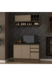 Cozinha Compacta 2 Peças 3 Portas Safira Siena Móveis
