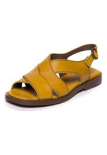 Sandalia Amarela Feminina Baoba - Citrus / Brown 4803