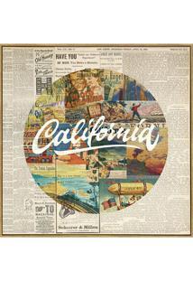 Quadro Em Canvas Colagem Califórnia 70Cm