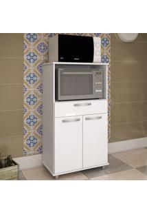 Armário De Cozinha Para Forno 2 Portas Utilitário 188 Branco - Pnr Móveis