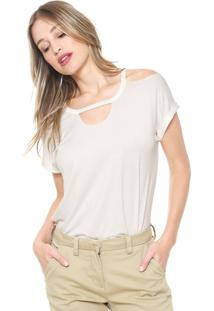 Camiseta Mob Off Shoulders Off-White