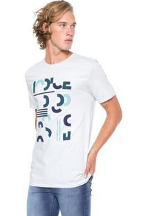 Camiseta Iódice Manga Curta Estampada Azul