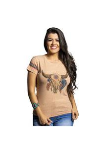 T-Shirt Miss Country Boa Sorte Bege