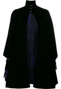 Giorgio Armani Pelerine Drapeado - Azul