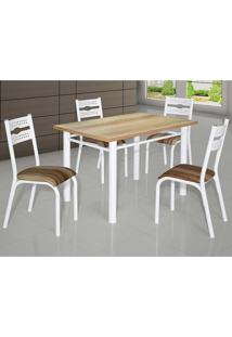 Conjunto De Mesa Com 4 Cadeiras - Luna - Ciplafe - Capuccino
