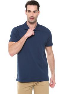 Camisa Polo Colombo Reta Logo Azul