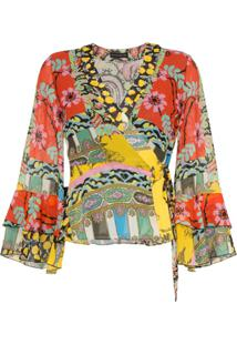 Etro Blusa Floral Com Transpasse - Estampado