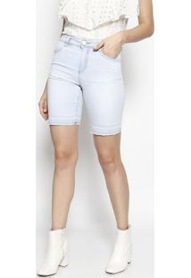 1e9a2245fa8a ... Bermuda Jeans Délavé - Azul Claro - Maria Valentinamaria Valentina