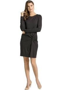 Vestido Com Nó Alphorria - Feminino-Preto