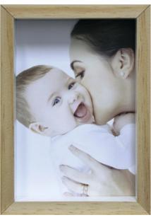 Porta-Retrato Wood Natural E Branco 15X21Cm