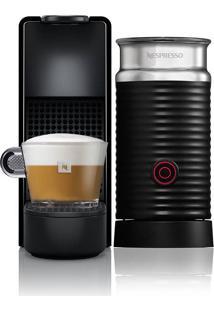 Cafeteira Nespresso Essenza Mini C30, 0.6L, 1450W, Café Cremoso, Aeroccino, Preto 220V