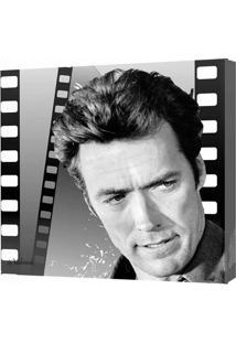 Quadro Impressão Digital Clint Eastwood Preto E Branco 30X30Cm Uniart