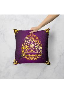Capa De Almofada Ressurreiã§Ã£O 45X45Cm - Multicolorido - Dafiti